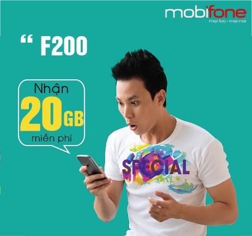 Hướng dẫn cài đặt và đăng ký gói cước 3G F200 của Mobifone