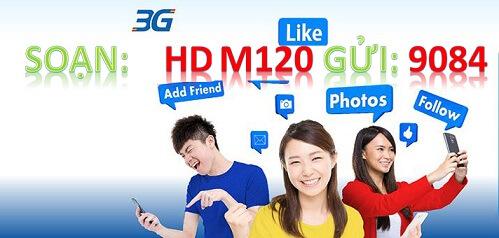 Hướng dẫn cài đặt và đăng ký gói cước 3G M120 Mobifone