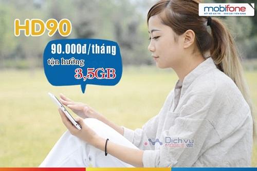 Ưu đãi khủng khi đăng ký gói 4G HD90 MobiFone