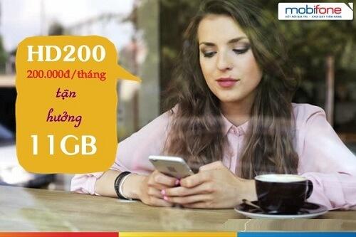 Đăng ký gói 4G HD200 MobiFone để nhận ngay 11GB Data
