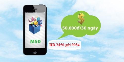Đăng ký gói cước 3G M50 MobiFone nhận ngay 450MB